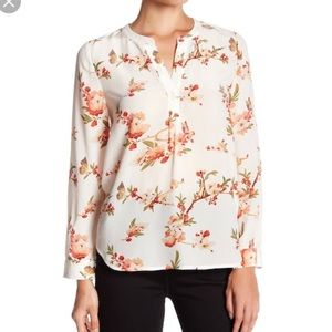 Joie Pearline Silk Floral Blouse